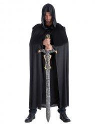 Mittelalterlicher Umhang dunkler Ritter schwarz