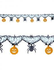 Girlande Spinnen und Kürbisse Halloween