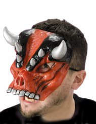 Gruselige Teufelsmaske für Erwachsene Rot