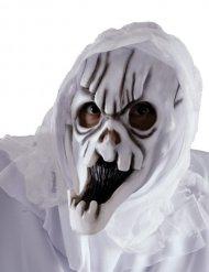 Weiße Geister-Maske für Erwachsene Halloween