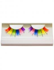 Wimpern Regenbogen bunt 6 Farben