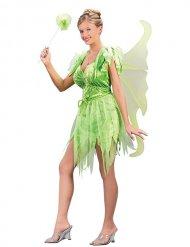 Bezaubernde Märchen-Elfe Damenkostüm Fee grün