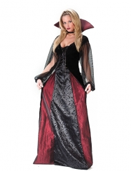 Damen-Kostüm - Gothic Vampir - Schwarz/Bordeaux