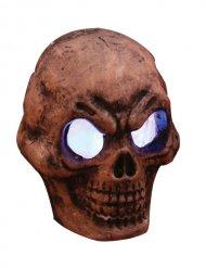 Leuchtender Skelett-Schädel mit Farbwechsel Halloween-Deko