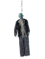 Gruseliger Halloween Zombie-Aufhänger schwarz-grau-blau