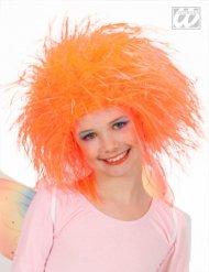 Perücke Feenkönigin orange Mädchen