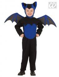 Fledermaus-Kostüm schwarz-blau für Halloween
