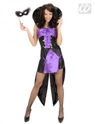 Sexy Vampirinnen-Kostüm für Damen Halloween schwarz-lila