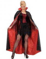 Schwarz-roter Halloween-Umhang für Erwachsene