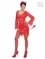 Sexy Teufelin Halloween Damenkostüm rot