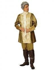 Edles Barock-Kostüm für Herren gold-weiss