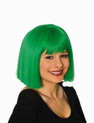 Perücke grün Kurzhaarschnitt Damen