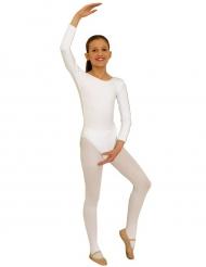 Weißer Body Ballerina Kostüm für Kinder