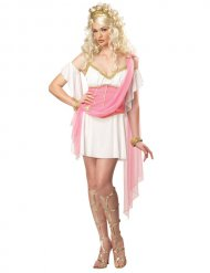 Griechin Damenkostüm Antike-Verkleidung weiss-rosa