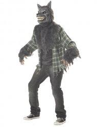Schauriges Werwolf-Kostüm grau