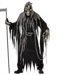 Schwarzes Kostüm Sensenmann Erwachsene Halloween