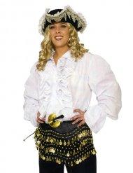 Weiß Piratenhemd mit Rüschen Erwachsene