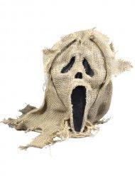 Schaurige Scream-Maske mit Jute beige