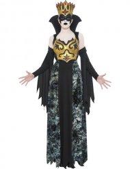 Dunkle Königin Halloween Kostüm für Damen schwarz-gold