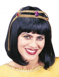 Kleopatra Perücke schwarz für Damen