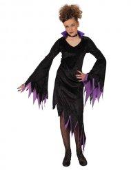 Violettes Hexen-Kostüm für Mädchen Halloween
