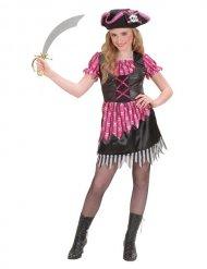 Räuberische Piratin Teenager-Kostüm für Mädchen pink