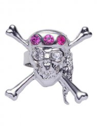 Totenkopf-Ring Pirat mit Strass