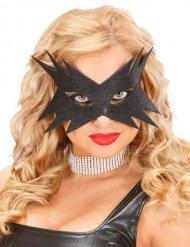 Maske schwarze Pailletten Damen