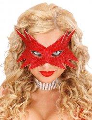 Maske leuchtend roter Stern Erwachsene