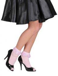 Socken mit Rüschen 70DEN Kostümzubehör pink
