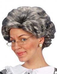Großmutter Perücke für Damen grau