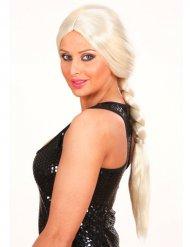 Lange blonde geflochtenen Perücke Erwachsene