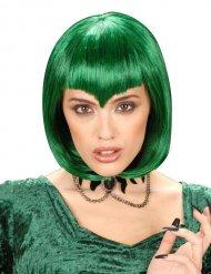 Vampir kurze Perücke grün