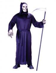 Sensenmann-Kostüm für Herren schwarzes Gewand