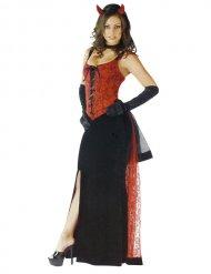 Teuflische Braut Halloween-Kostüm für Damen schwarz-rot