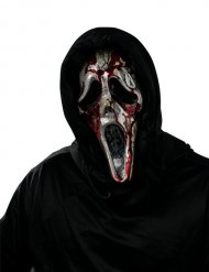 Scream-Maske Ghostface Serienkiller Halloween schwarz-silber