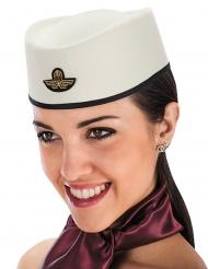Hut für Flugbegleiterin Stewardess-Kopfbedeckung weiss