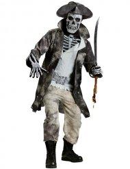 Geisterpirat Halloween-Herrenkostüm Gespenst grau
