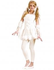 Mumien-Teenkostüm für Halloween weiss