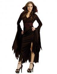 Halloween-Damen-Kostüm - Gothic Vampirlady - Schwarz