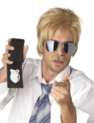 Blonde Perücke und Schnurrbart Geheimagent