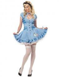 Verführerische Alice märchenhaftes Damenkostüm hellblau