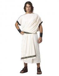 Prachtvolle Toga Römer-Kostüm für Herren Karneval weiss-gold
