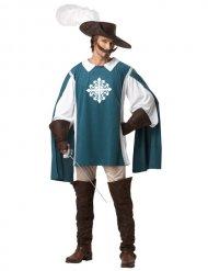 Musketier Kostüm blau Mann