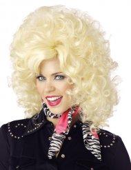 Voluminöse Countrystar-Perücke für Damen blond
