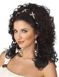 Griechische Göttin antike-Perücke für Damen dunkelbraun