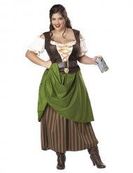 Mittelalterliche Wirtin Kostüm Damen Plus Size