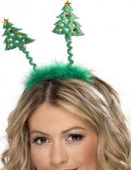 Haarreif mit Weihnachtsbäumen Accessoire für Erwachsene grün