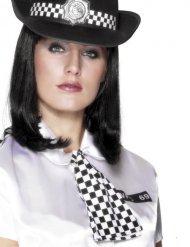 Polizei Krawatte schwarzweiss Damen