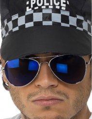 Blaue Pilotenbrille für Erwachsene